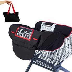 2-in-1 Shopping Cart and High Chair Cover | Versatile Cover with Safety Harness, Full Protection, Machine Washable, Universal Fit, Unisex Design for Babies, Infants and Toddlers