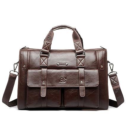 Gracosy Vintage Bolsos de Mano Bolsas de Hombro Maletín para Hombre Cuero Bolso Bandolera Cuero de Mochila de Hombres Convertible Bolsa Laptop ...