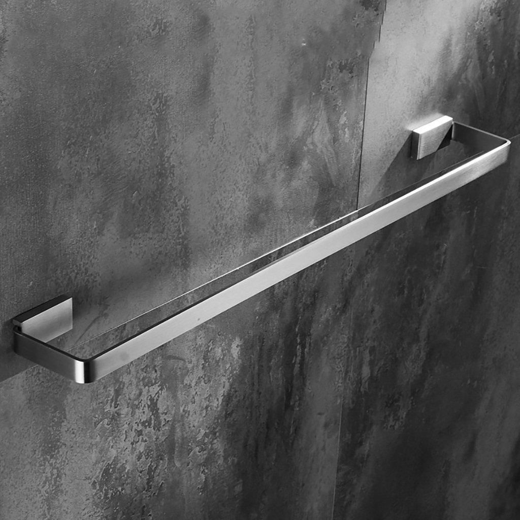 タオルバー バスルーム304ステンレススチールタオルラック/シングルロッドタオルロッドを長く//バスルームソリッドタオルラック (サイズ さいず : 50 cm 50 cm) B07DZR2MF8 50 cm 50 cm 50 cm 50 cm