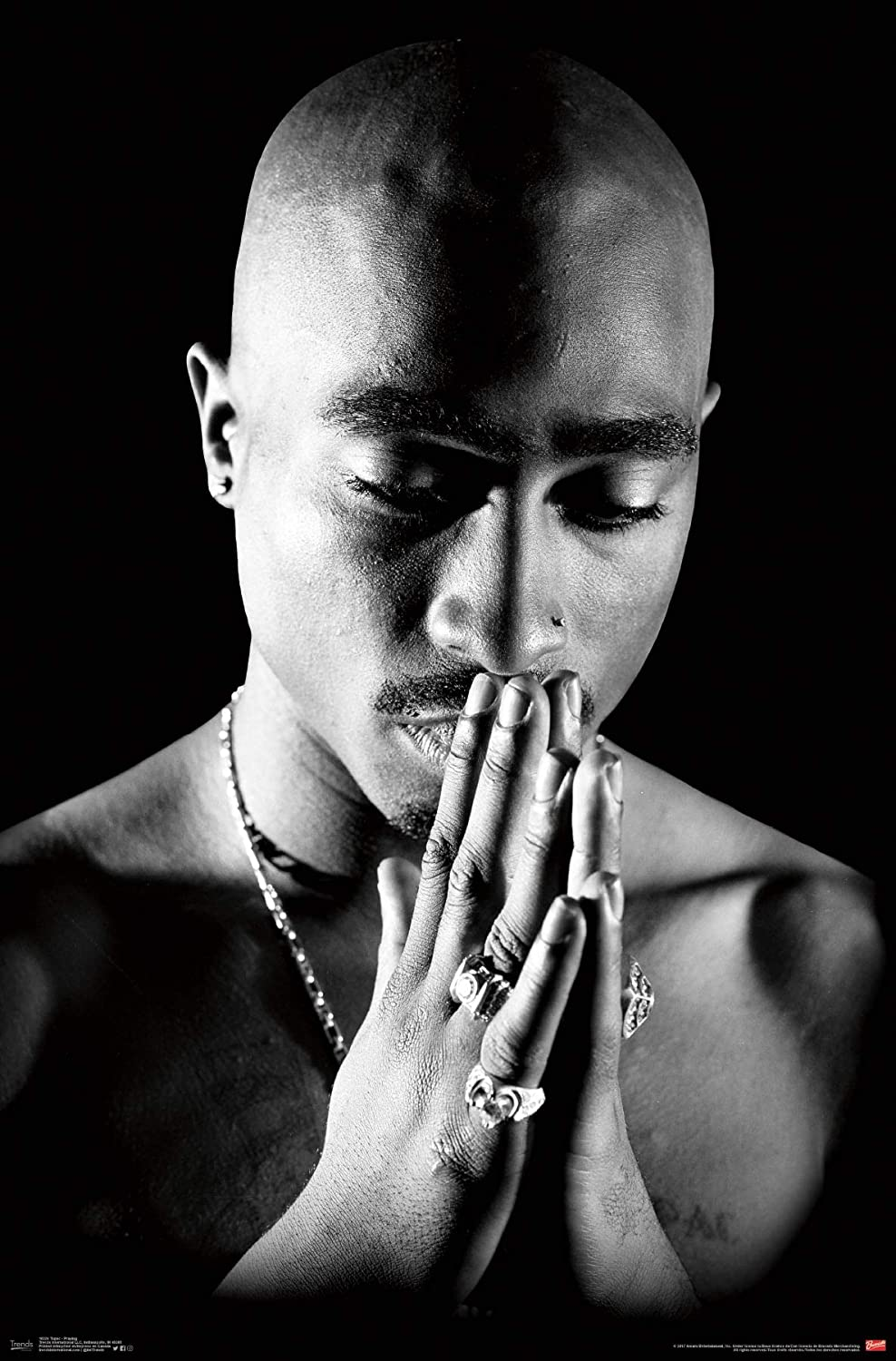 Amazon com trends international tupac praying wall poster 22 375 x 34 posters prints