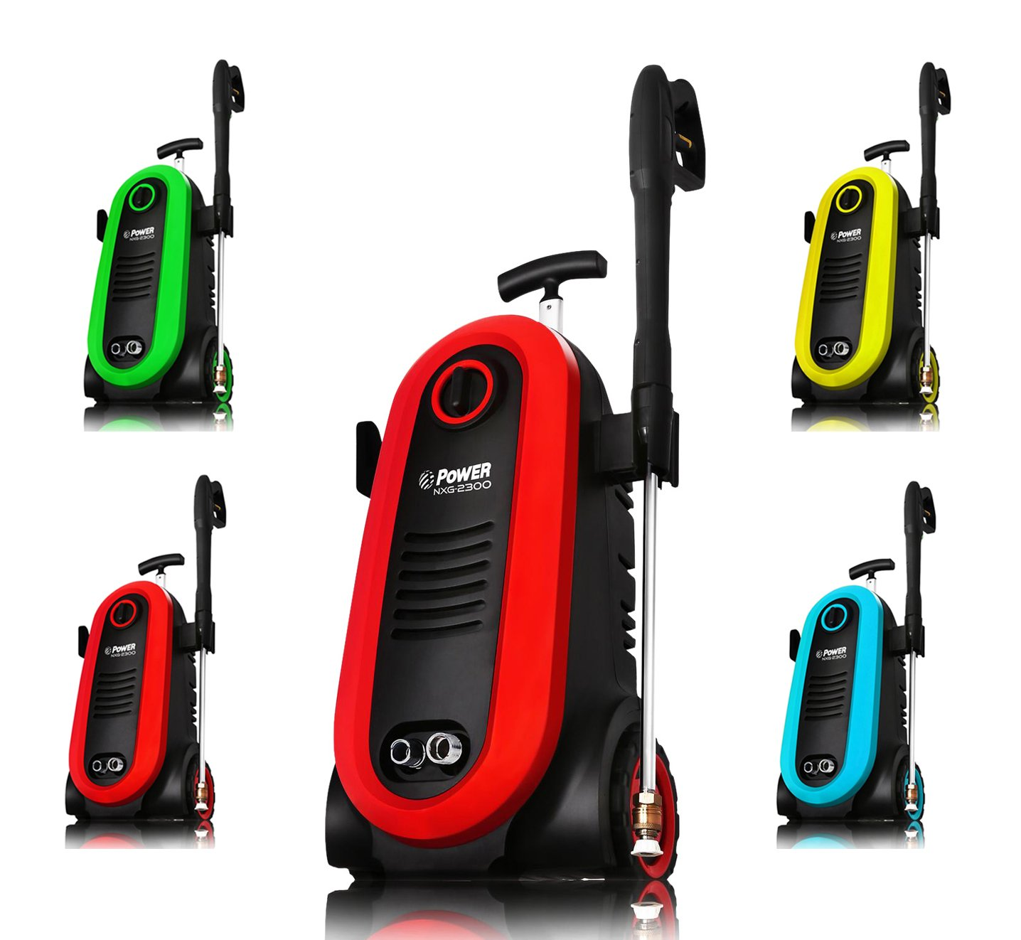 Power Pressure Washer 2300 PSI Electric | Brushless Induction Technology | The Next Generation of Pressure Washer | 3X More Lifespan | Ultra Low Sound | New Design | Power Efficient (Red)