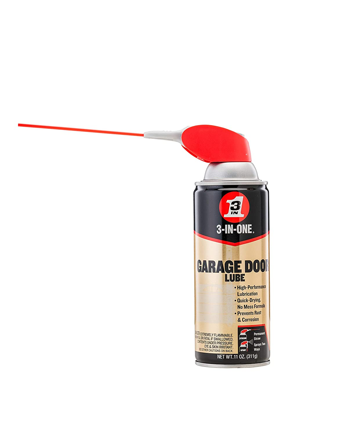 3-IN-ONE Professional Garage Door Lubricant with Smart Straw