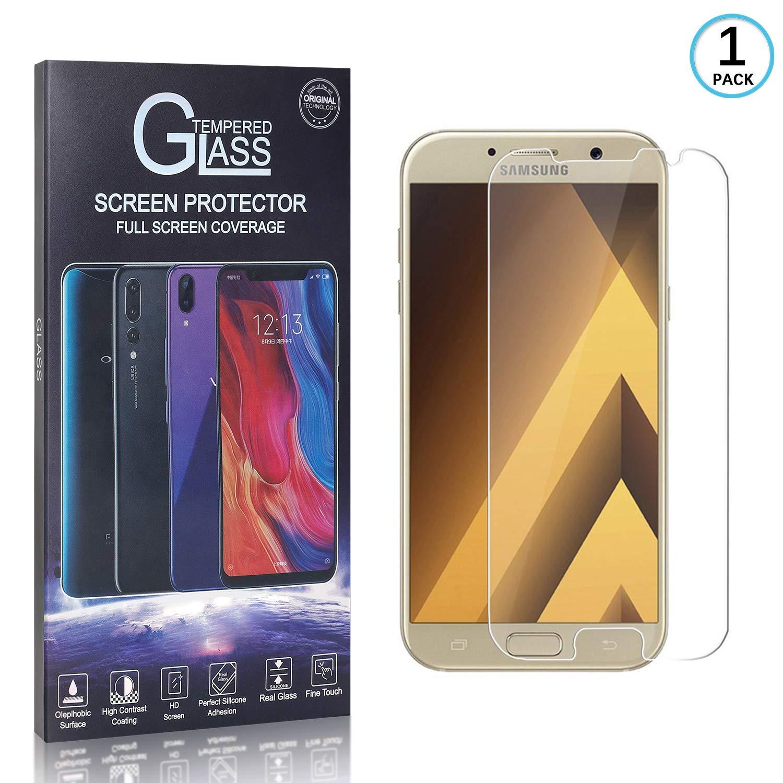 Anti-Graffio Schermo Protettivo Trasparente Pellicola Vetro Temperato per Samsung Galaxy A3 2017 1 Pezzi FCLTech Galaxy A3 2017 Vetro Temperato