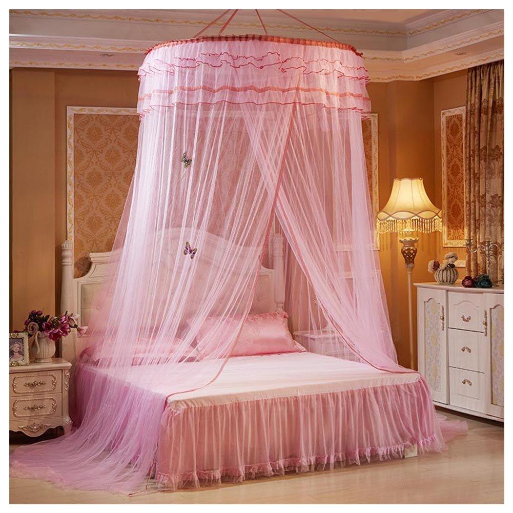 Cutogain romantique suspendu d/ôme Moustiquaire Princesse /étudiants Moustiquaire ciel de lit rond en dentelle Rideau Mosquito Nets
