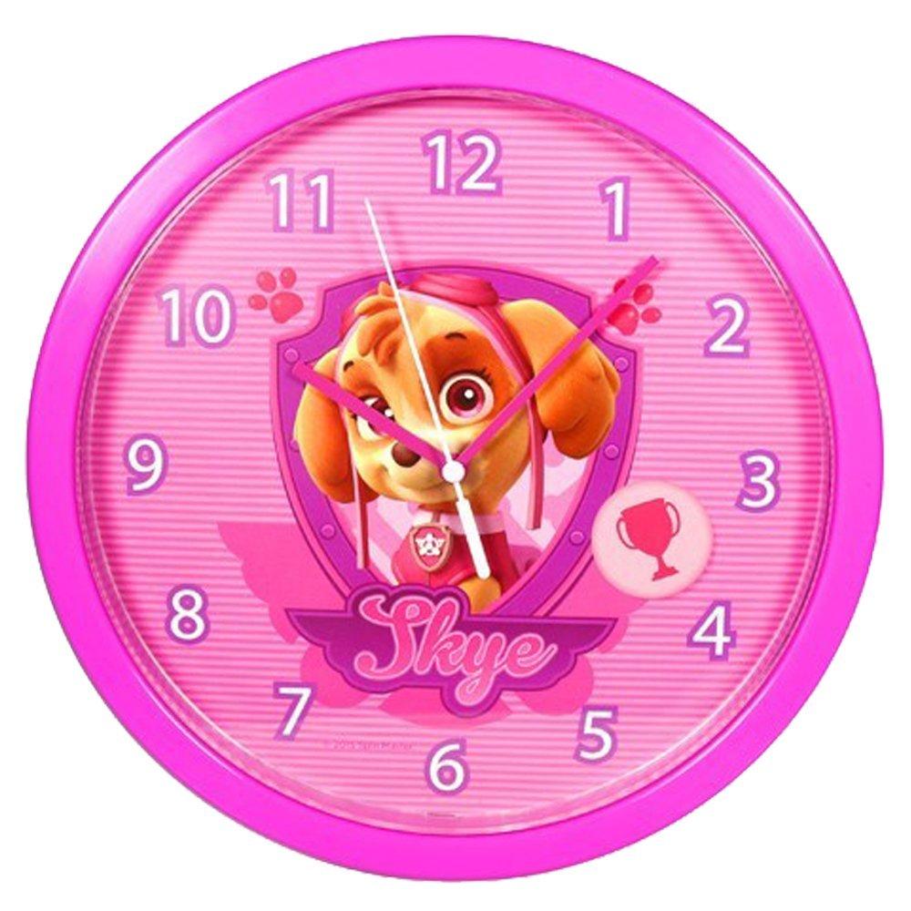 Paw patrol pw16052 skye wall clock amazon toys games amipublicfo Choice Image