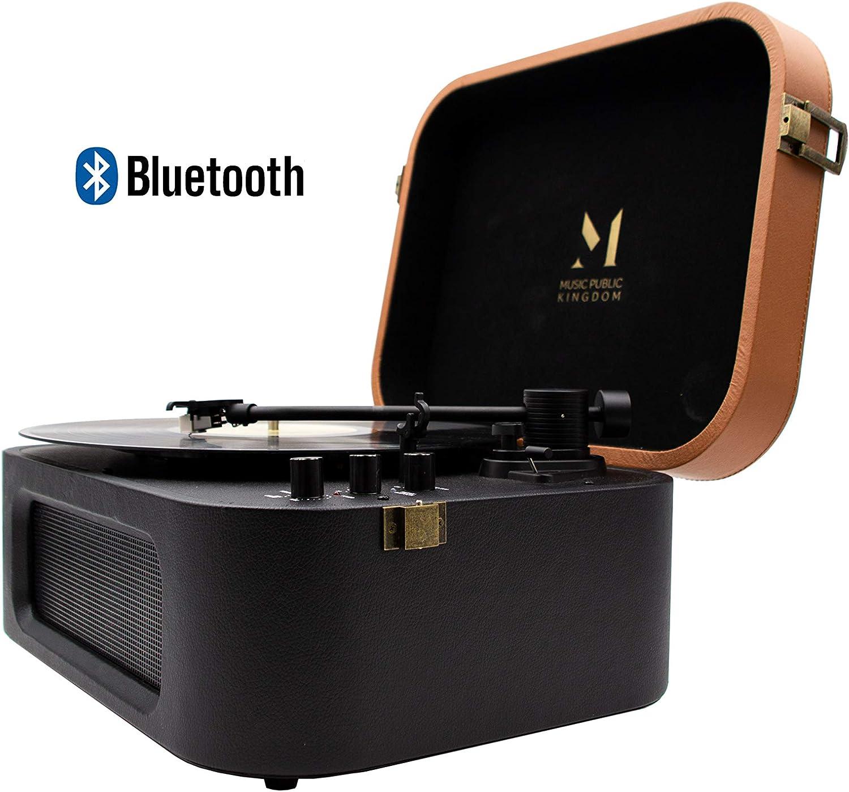 MPK TT270, Tocadiscos con Bluetooth Diseño Retro de Estilo Maletín ...