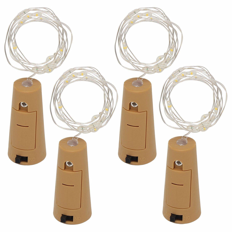 Guirnalda con luces LED, de E-JIAEN, 2 metros, 20 ledes, ideal para manualidades con botellas o decoración, 4 unidades: Amazon.es: Hogar