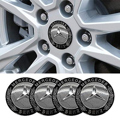 4 x 56.5mm Car Lettering BBS Wheel Center Cap Sticker Wheel Emblem Badge Logo Stickers (fit Benz Silver): Automotive