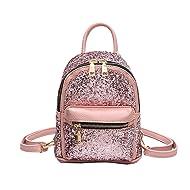 bfc8e8fe985 Girls Cute Sequin Mini Backpack Leather Purse Women Backpack Leather Cross  Body Bag
