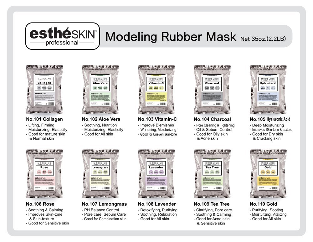 estheSKIN No.104 Charcoal Modeling Mask Powder for Professional Facial Treatment, 35 Oz.