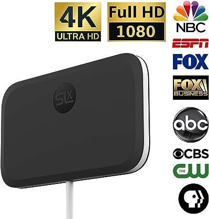 Antena de TV SLx ultra compacta para TV digital en interiores 4K HD | canales OTA HDTV gratis
