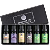Lagunamoon Essential Oils,Top 6 Aromatherapy Oils Lavender Tea Tree Peppermint Rosemary Lemon Frankincense Therapeutic Essential Oil Set