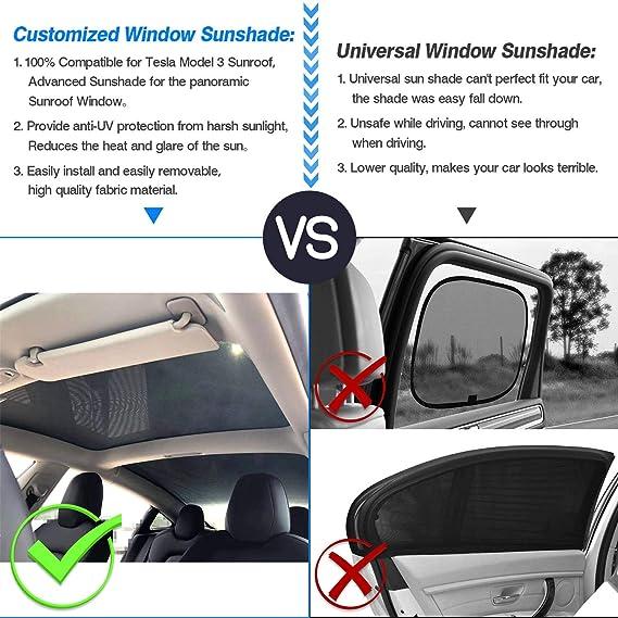 Premis Mesh Car Window Sun Shadescar Sunroof Uv Rays Protection Window Shade For Tesla Model 3