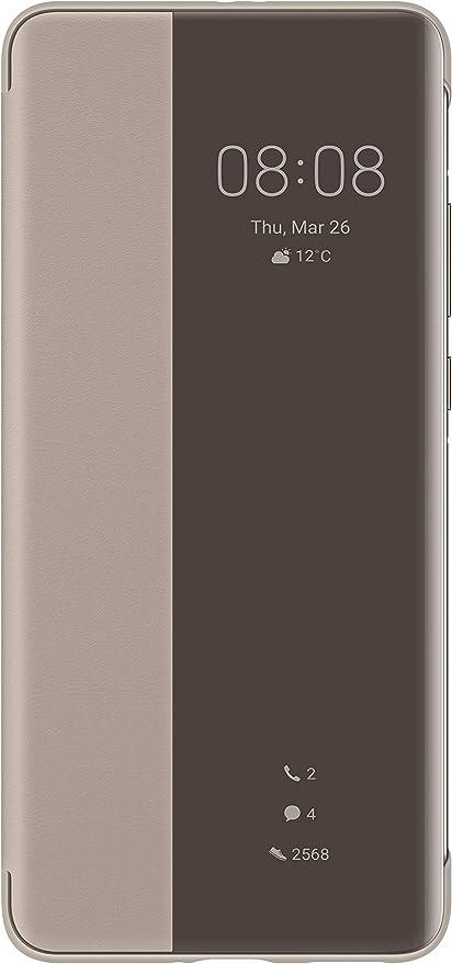 Huawei P40 Pro Smart View Flip Case Original Accessories Khaki Elektronik