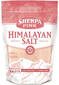 Sherpa Pink Gourmet Himalayan Salt - 10 Pound Bulk Bag Fine Grain
