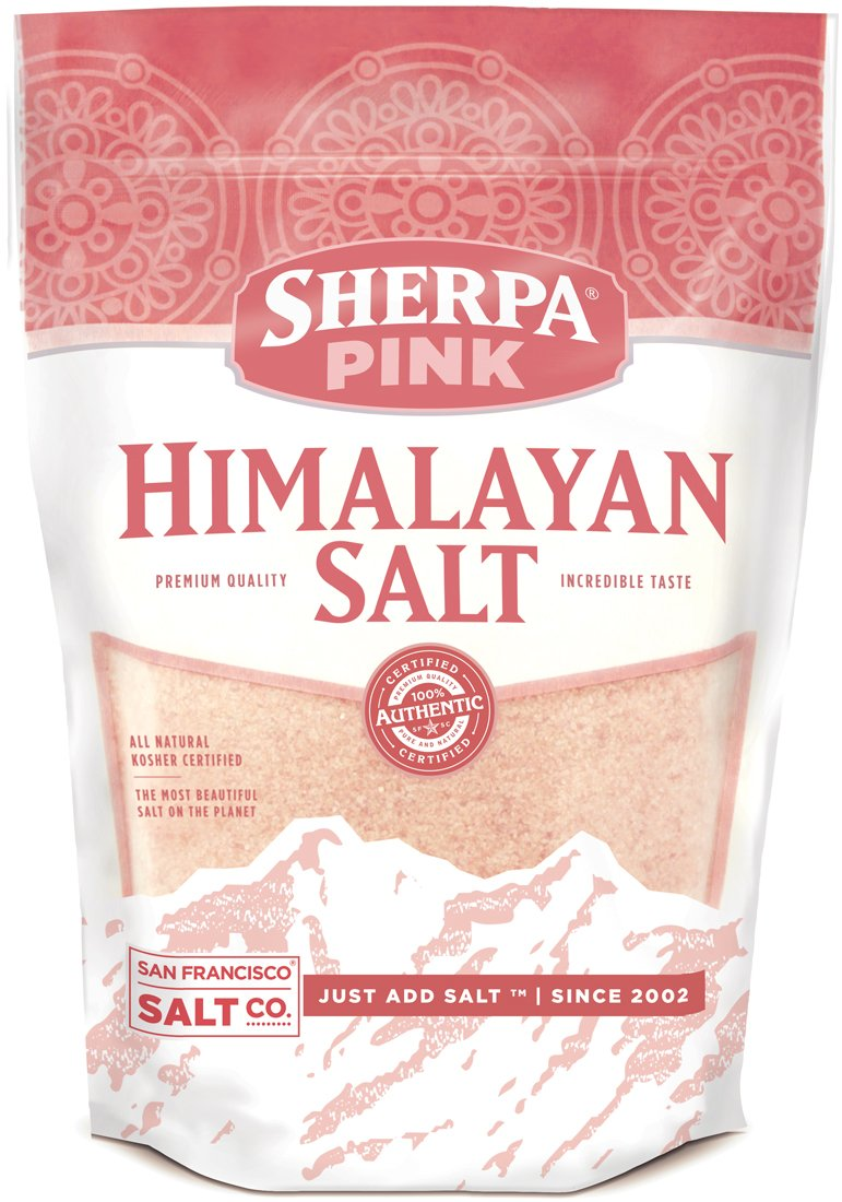 Sherpa Pink Gourmet Himalayan Salt, 10lbs Fine Grain. Incredible Taste. Rich in Nutrients and Minerals to Improve Your Health. Add to Your Cart Today.