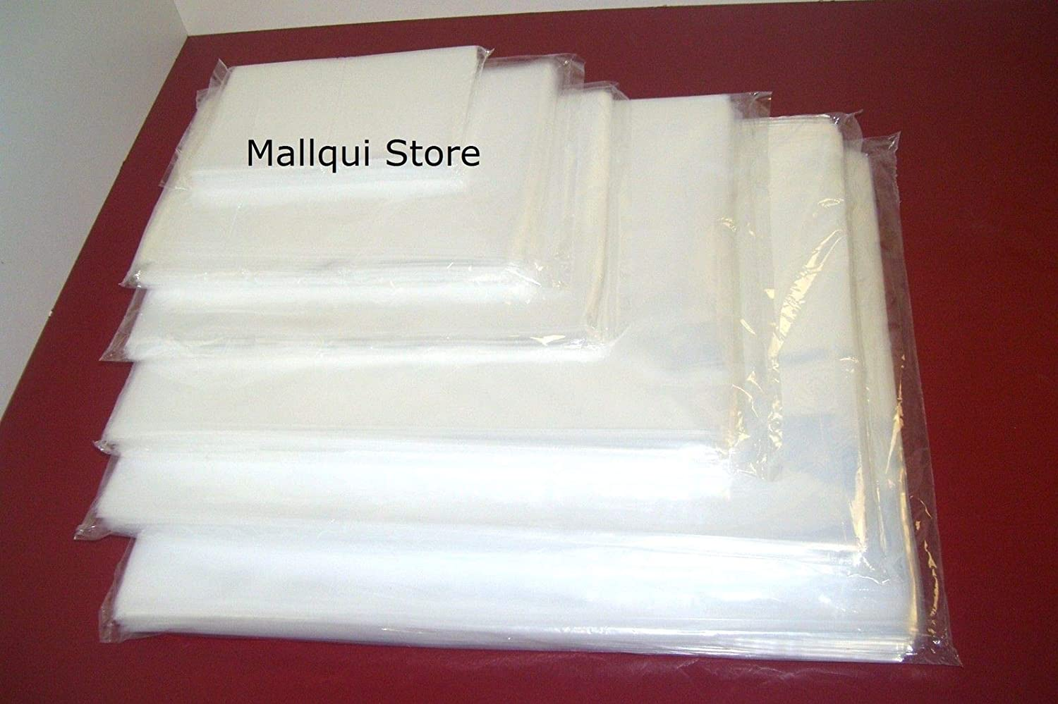 1,000 CLEAR 9 x 12 POLY BAGS PLASTIC LAY FLAT OPEN TOP PACKING ULINE BEST 2 MIL