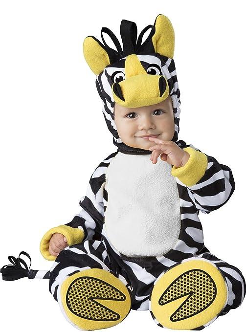 Costume carnevale zebra savana bebè travestimento carnevale halloween  cosplay neonato tuta copriscarpe cappuccio coda smontabile costume bdf751e7cf23