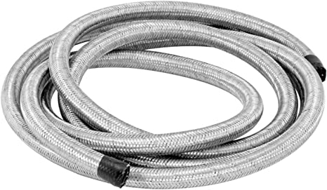 5//16 Inch x 6 Ft Spectre 29306 Braided Stainless Steel-Flex Fuel Line