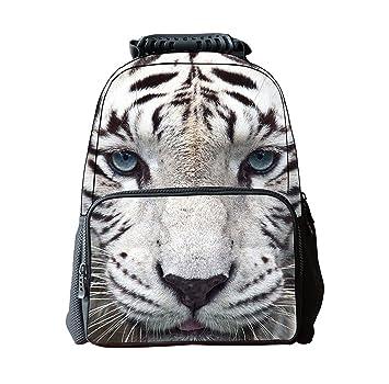 DaoRier Animal Tigre Mochilas Escolares Bolsas Escolares Niños Niñas Size 41 * 30 * 20cm: Amazon.es: Hogar