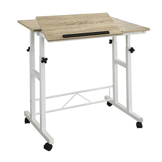 SoBuy®Mesa de Ordenador con 2 estantes,Altura Ajustable 67-90cm ...