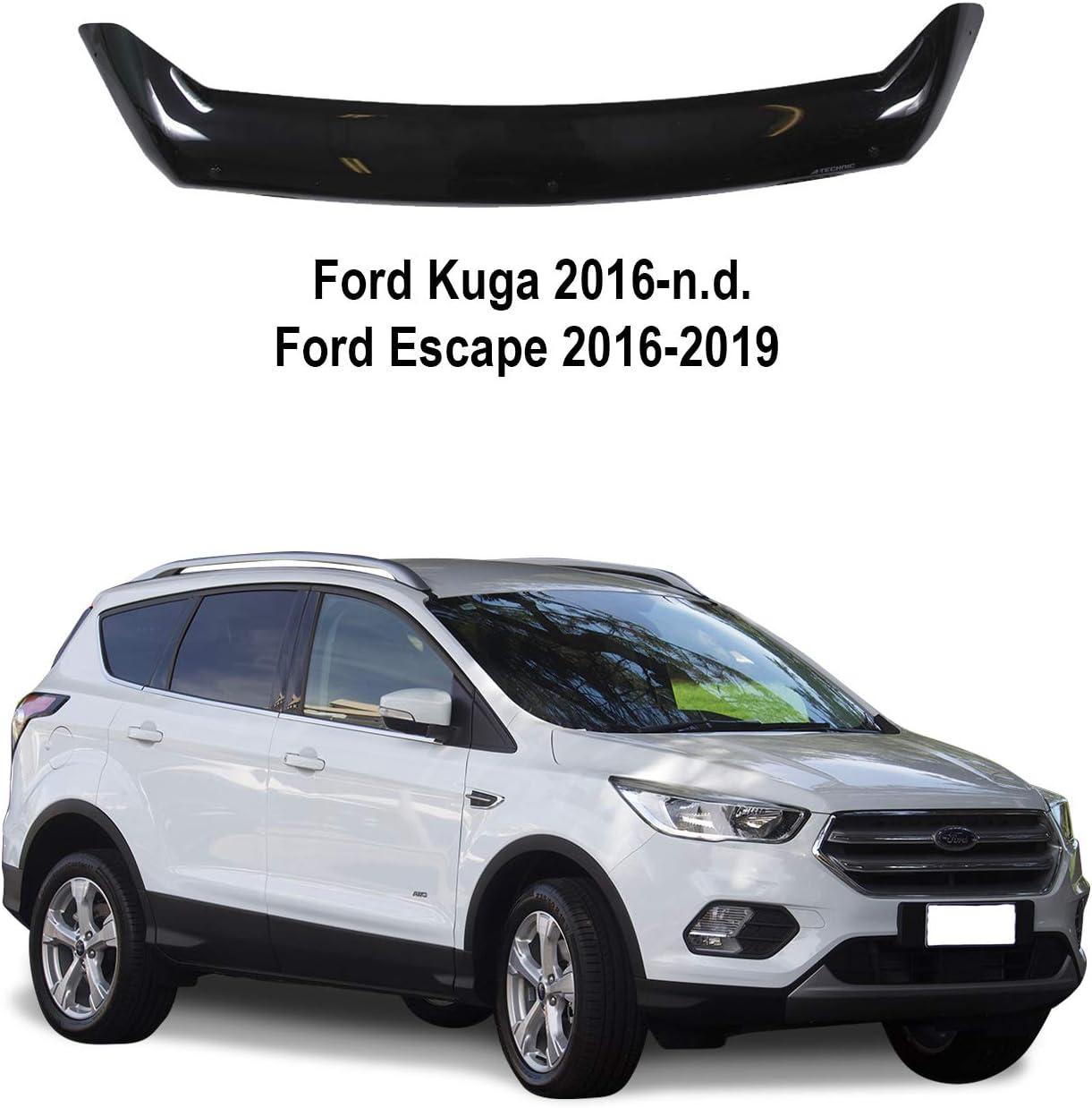 Deflector de cap/ó para Ford Kuga 2016-now Escape 2016-2019 color negro A-Technic