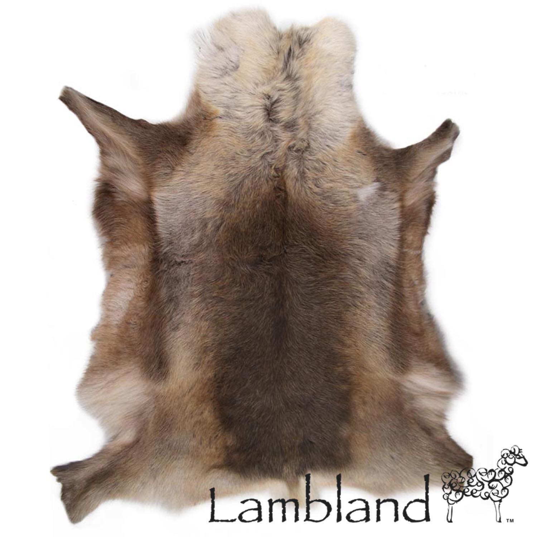Amazon.com: Lambland Grade A Luxury Reindeer Hide / Skin / Rug In Dark  Shade Natural Colors: Kitchen U0026 Dining
