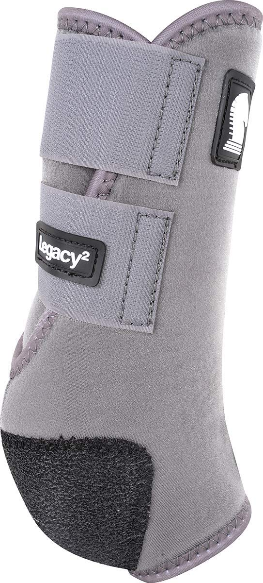 Classic Equine Legacy2 System Front Boot (Solid), Steel Gray, Medium