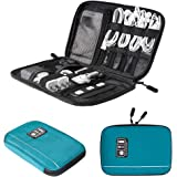 BAGSMART Electronic Organizer Travel Universal Cable Organizer Electronics Accessories Cases for Cable, Charger, Phone, USB, SD Card, Black Dark Blue