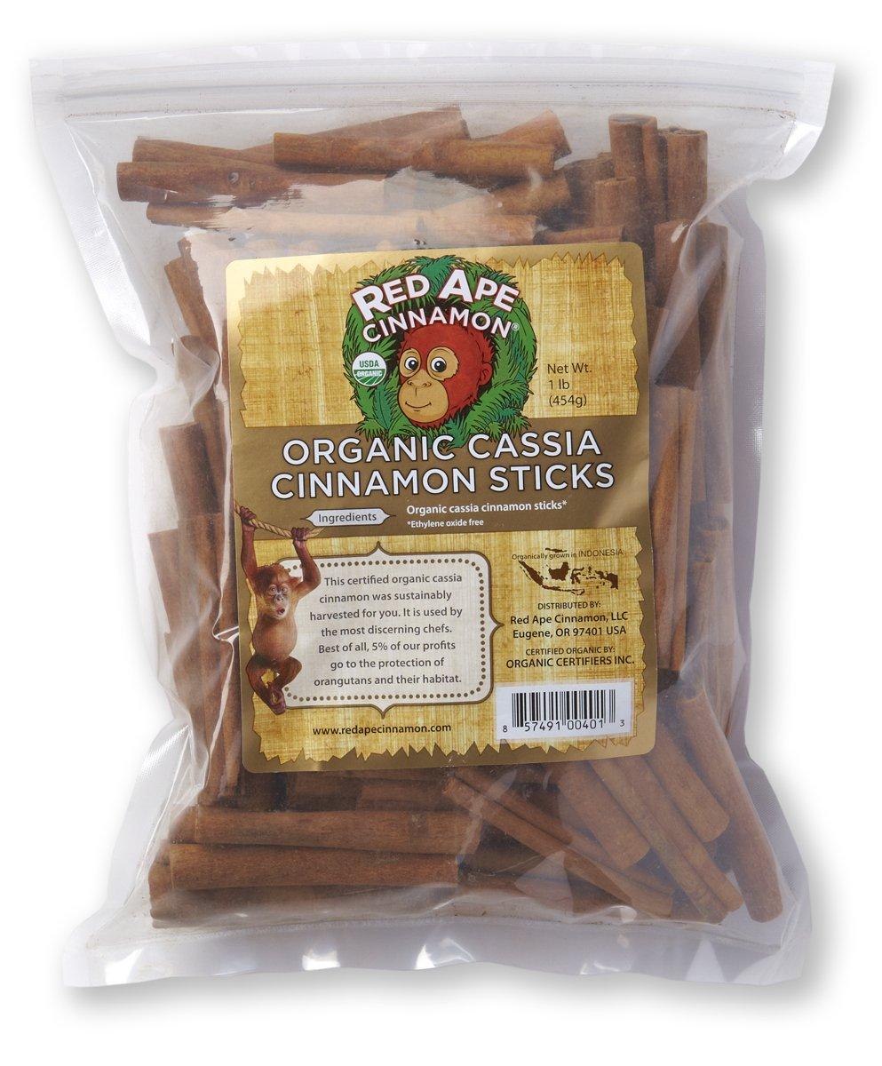 Red Ape Cinnamon Organic Cassia Sticks, 1 Pound