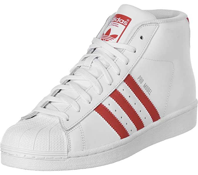 Sneakers Alte Adidas Uomo Pro Model BiancoRosso