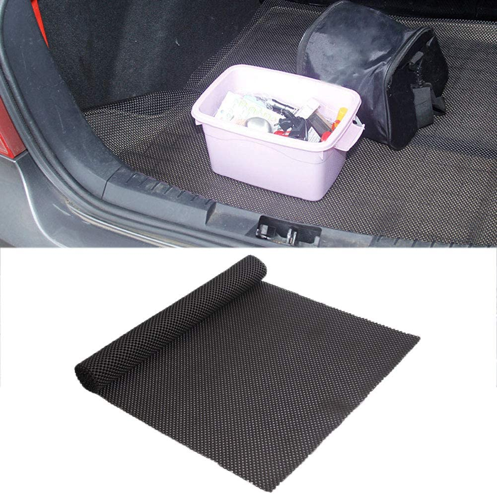 Black Grebest Car Anti Slip Mat Interior Decoration Cushion 150cm x 50cm Car Auto Dashboard Anti Slip Mats Trunk Backpack Pads Interior