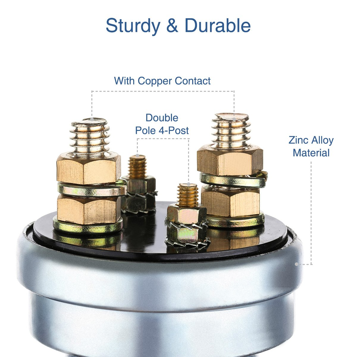 Audew High Current Battery Disconnect Switch Double 6pole Killswitch Pole Metal Body Master Quick With Copper Contacts 4 Post