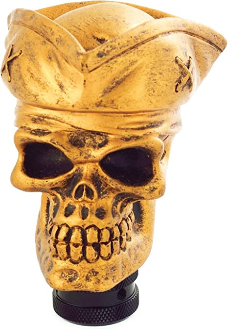 Copper Arenbel Lever Shift Knob Copper Soldier Skull Style Gear Stick Shifter Shifting Head fit Most Universal Manual Automatic Vehicle
