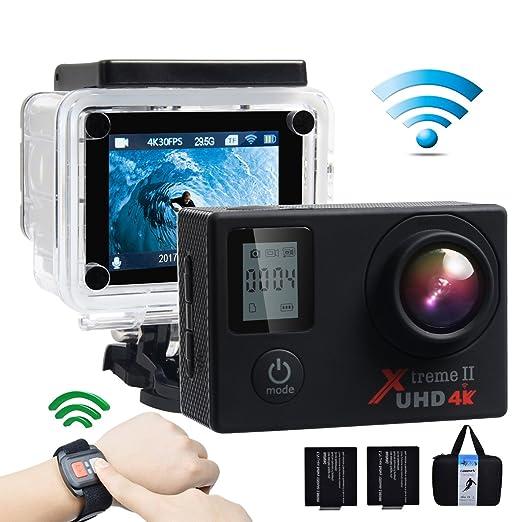 574 opinioni per Campark ACT76 Action Cam 4K WIFI 16MP Ultra HD Sport Action Camera con Dual