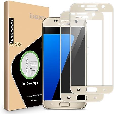 2x Icheckey 2 5d Edge Schutzfolie Samsung Galaxy S7 Elektronik