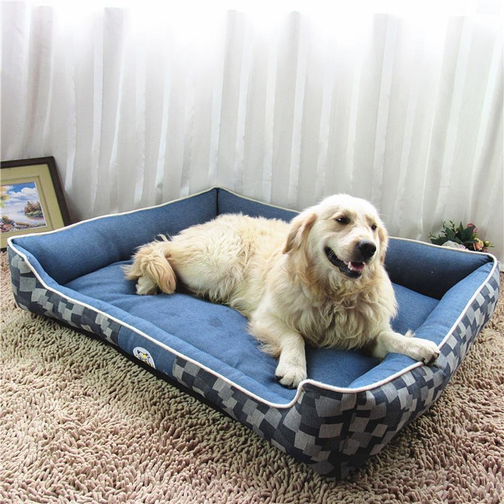 705522cm YunYilian Pet Bolster Dog Bed Comfort Cloth Kennel Washable Dog Bed Cushion pet Cushion Cat Nest (Size   70  55  22cm)