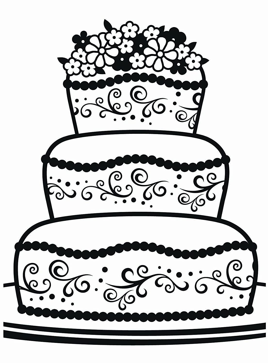 Darice Fancy Cake Embossing Template, Transparent, 10.8 x 14.6 cm 1218-17