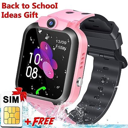 Amazon.com: Reloj inteligente para niños con tarjeta SIM GPS ...