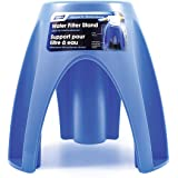 Camco Universal Fit Plastic Water Filter Stand- Supports Water Filter in Upright Position To Reduce Hose Kinking and Maximize Water Flow Rate, Fits 4-Inch Filters - 40775