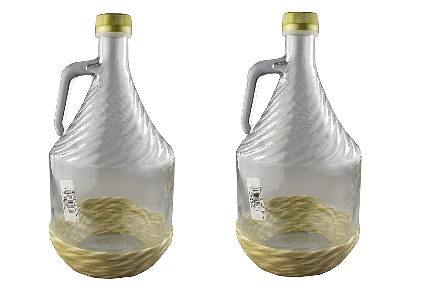 2L thick glass wine fermenter/storage with protective base and screw cap demijohn( pack of 2) Cost Wise