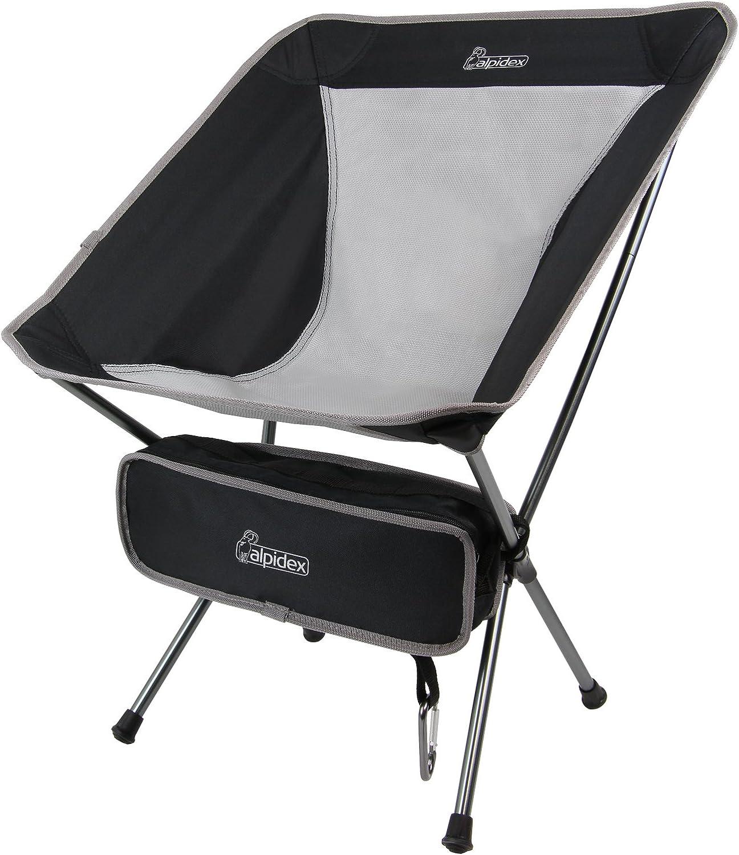 ALPIDEX Silla Camping Plegable Ultraligera - Solo 930 g, soporta ...