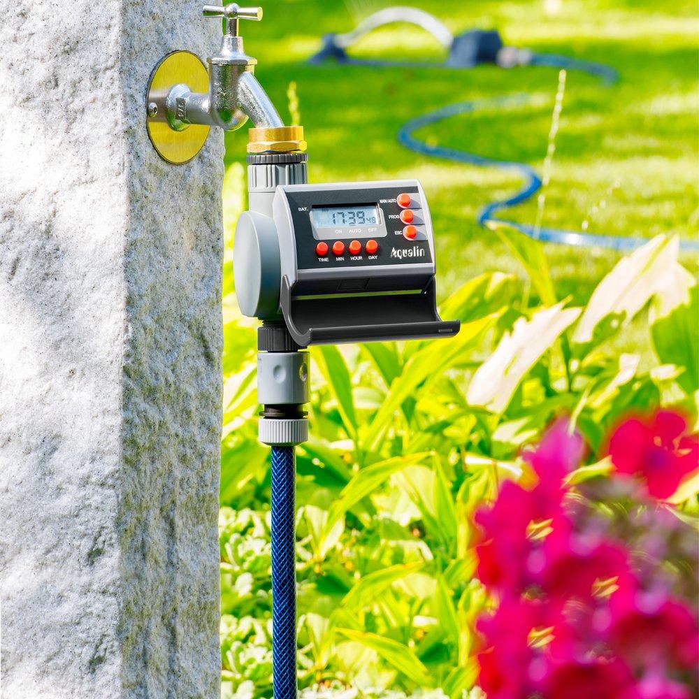 Aqualin Digital Home Garden Automatic Water Timer Garden Irrigation Controller System LCD Display