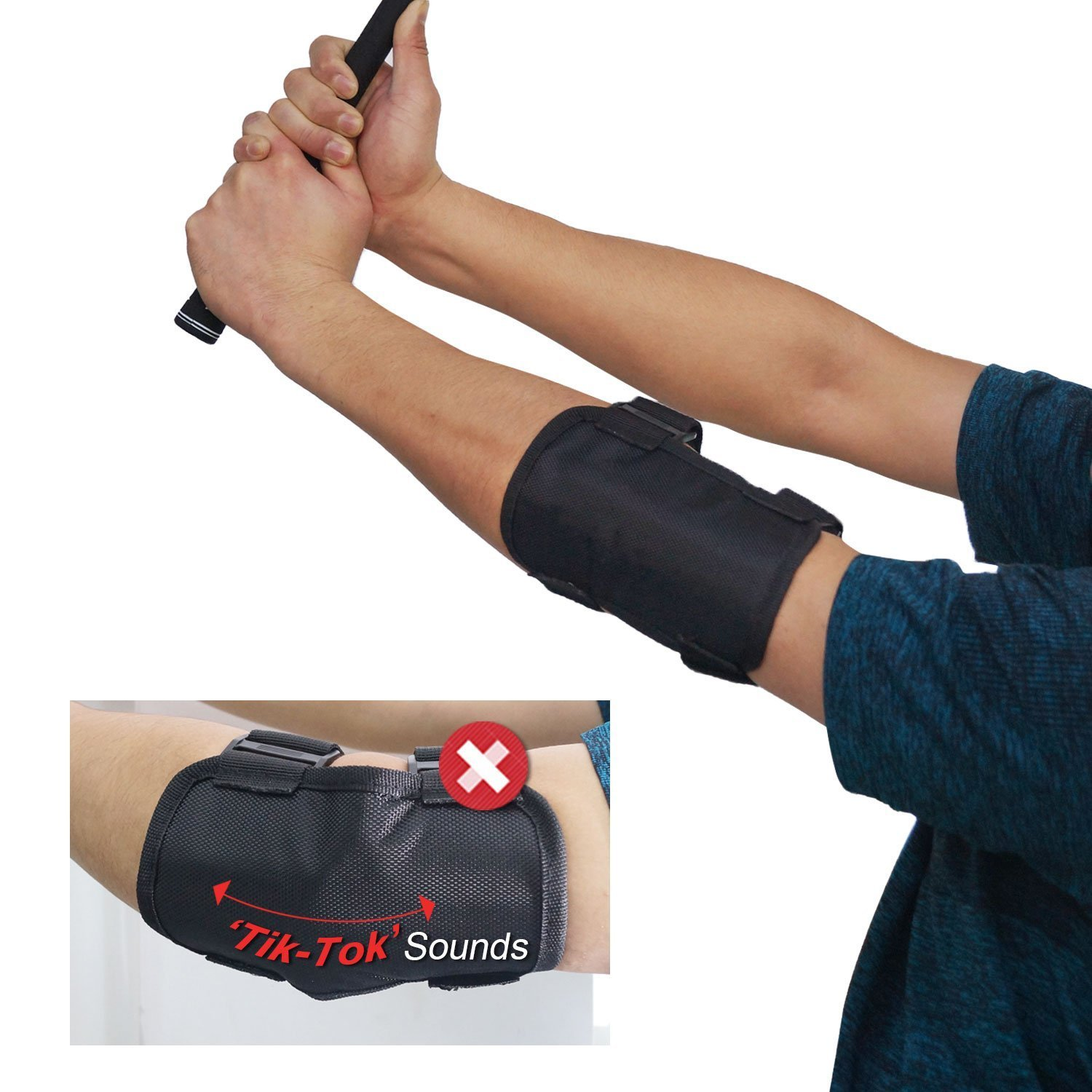 Golf Training Aid Golf Swing Posture Elbow Brace Corrector Alignment Guide Training Support Tool for Golf Novice Practice