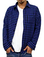 (リアルコンテンツ)REAL CONTENTS メンズ ブロック チェック シャツ 長袖 ギンガムチェック ネルシャツ rc7345