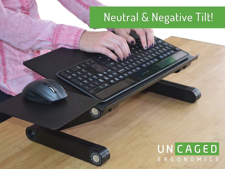 Superior Amazon.com: Uncaged Ergonomics WorkEZ Keyboard Tray U0026 Mouse Pad, Adjustable  Height U0026 Angle Ergonomic Standing Computer Keyboard Stand, Black (WEKTb):  Office ...