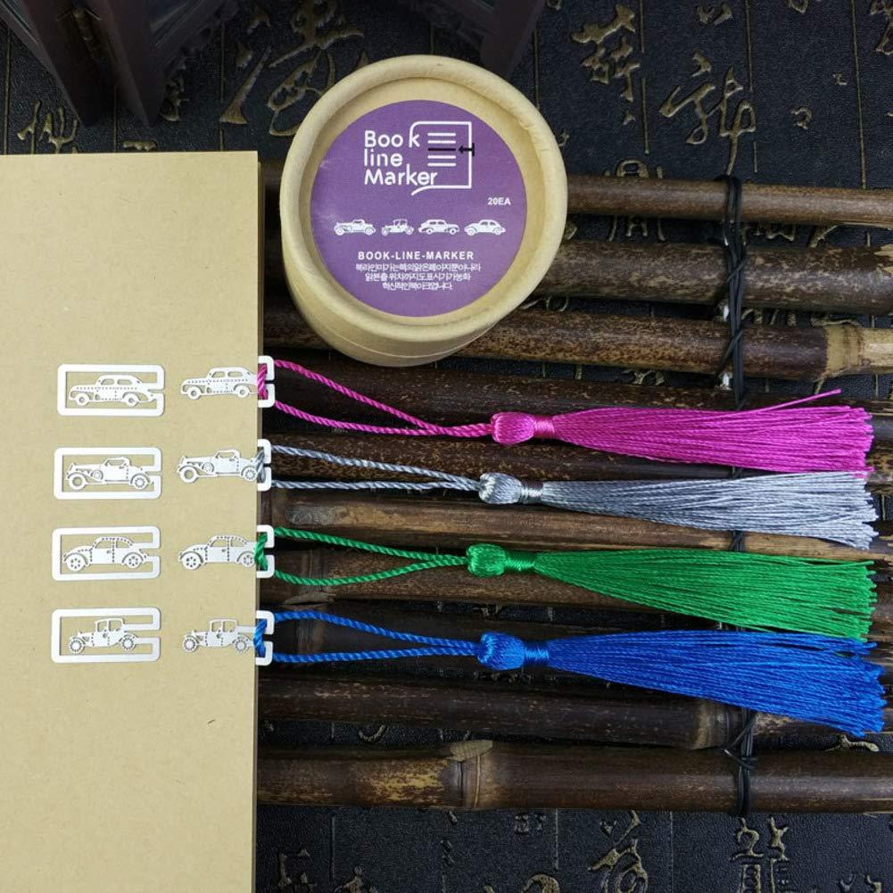 Metálico Marcapáginas caja Con Borlas, Creativo 1 caja Marcapáginas de De Aproximadamente 20pcs Clips para papel Marcadors de libro Recuerdos 4 Estilos-C 2.3x1.2cm bfd314