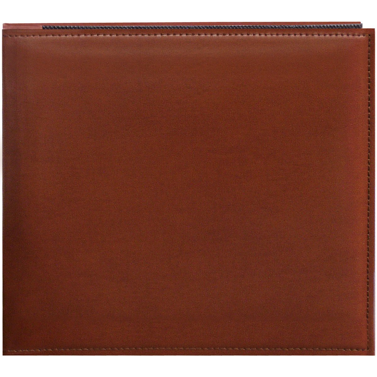 Pioneer 8 Inch by 8 Inch Snapload Sewn Leatherette Memory Book, Brown