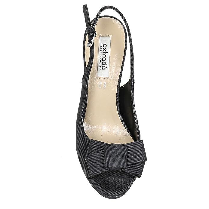 Estradà Scarpe Scarpe - Sandales Hautes Modèles Chanel en Gros Grain avec  Noeud, à Talons 10 CM - 41,0, Noir  Amazon.fr  Chaussures et Sacs b019762624ec