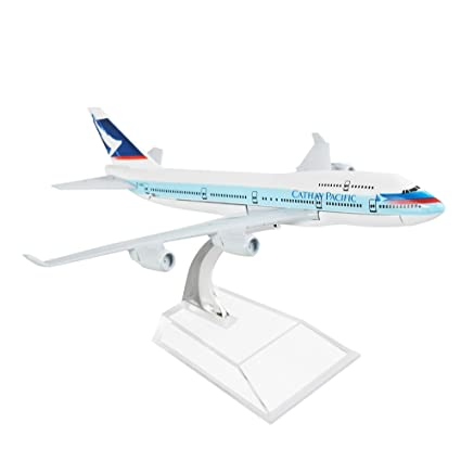 Hong Kong Cathay Pacific Boeing 747 16cm Metal Airplane Models Child Birthday Gift Plane Home